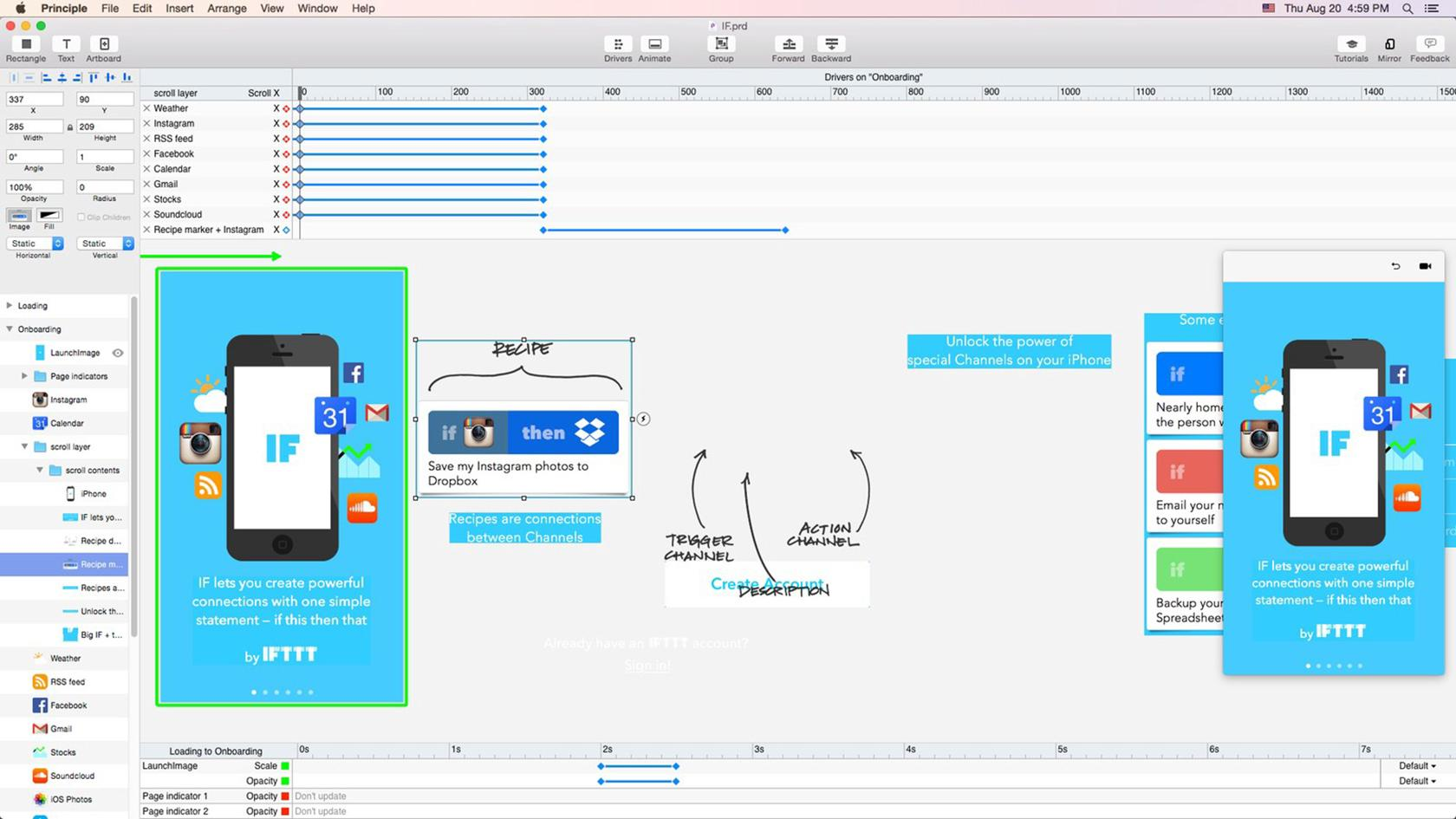 Principle is one of the best app prototyping tools