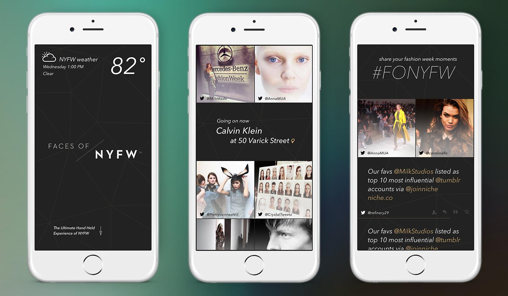 Faces of NYFW New York Fashion Week app design marrying design and technology