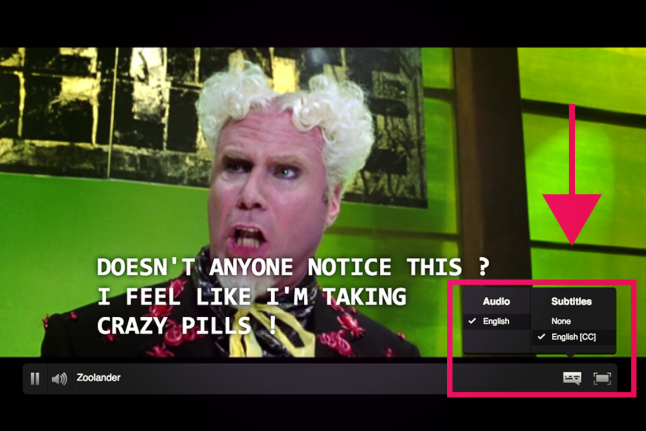 Netflix improved their website accessibility for disabled users by adding closed captions to their programming.