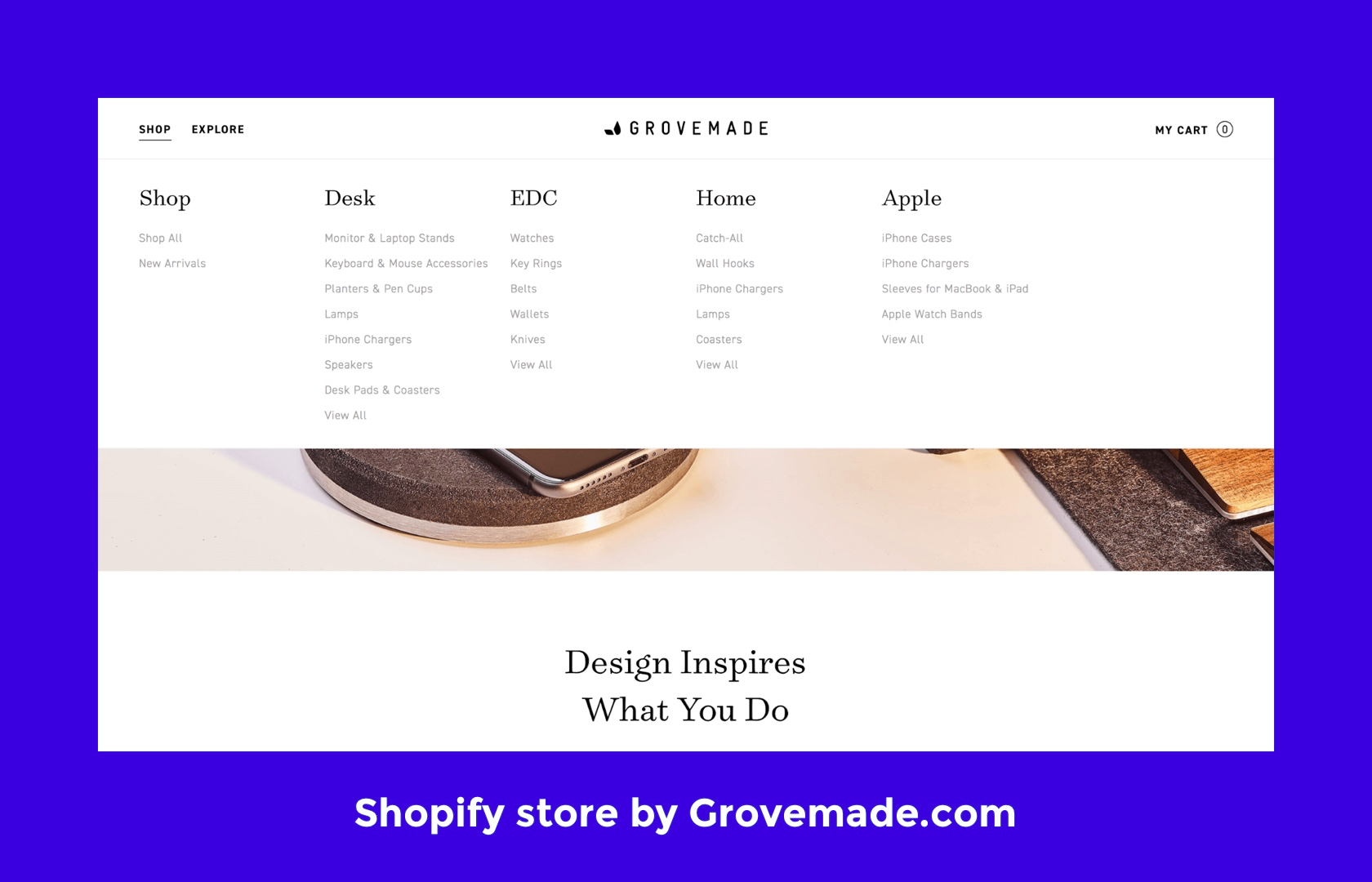 Shopify design tip: consider using custom navigations