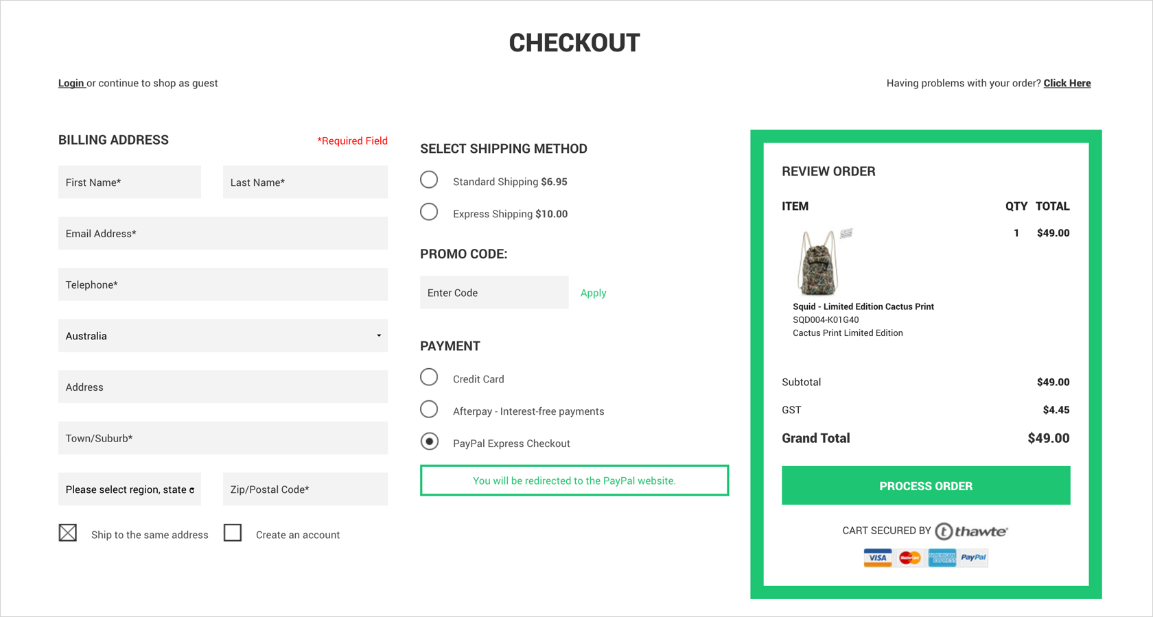 eCommerce UX: designing an eCommerce checkout