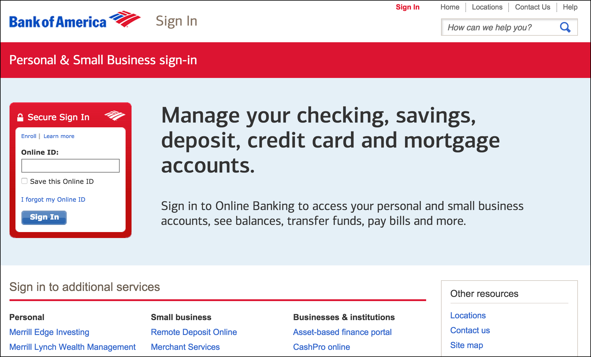 Measuring the UX ROI Bank of America B2C UX redesign case study.