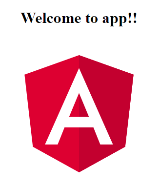 Angular 5 Welcome Screen