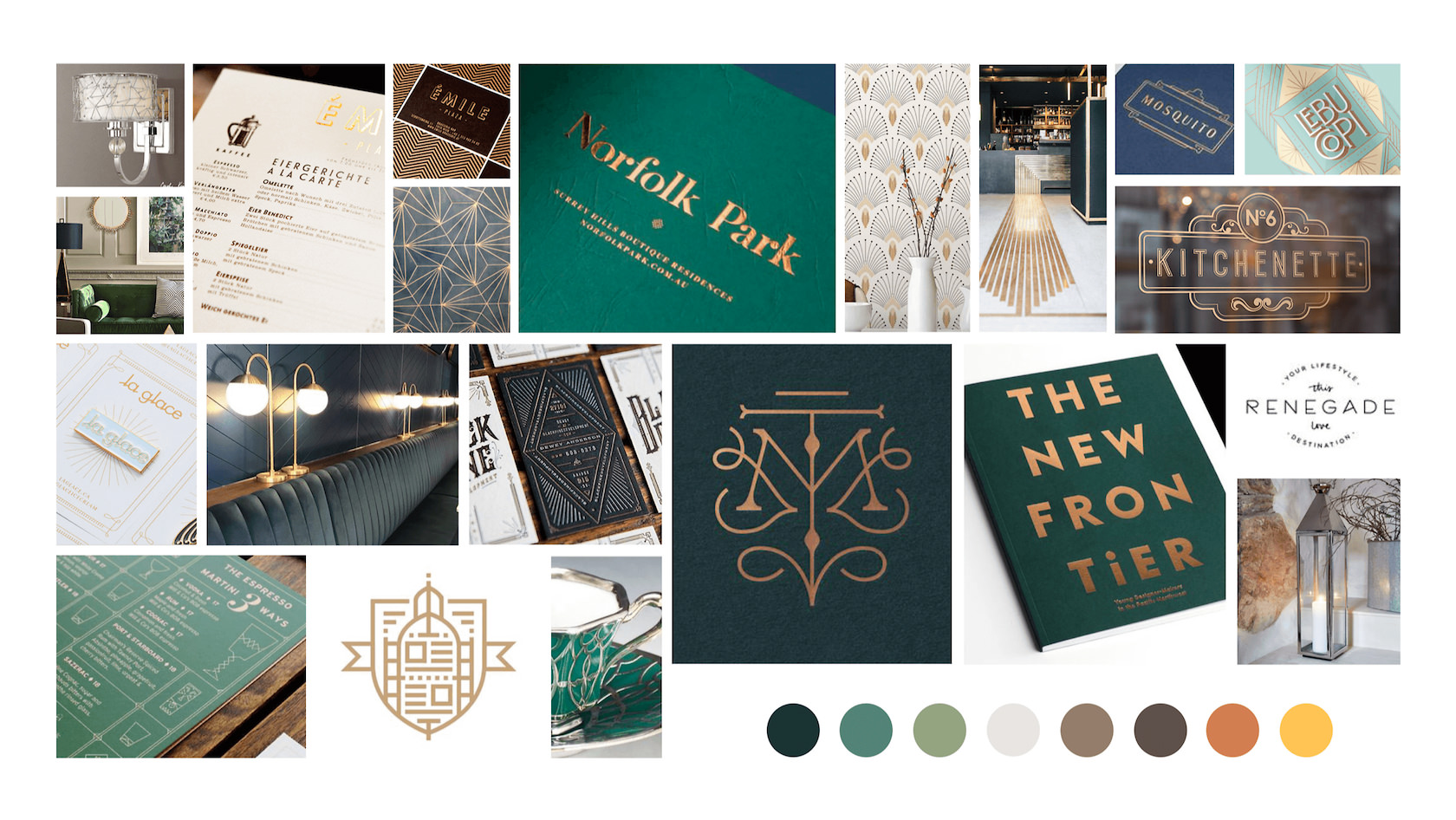 Mood board layouts can be as refined as a finished design project