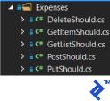 Expenses folder structure