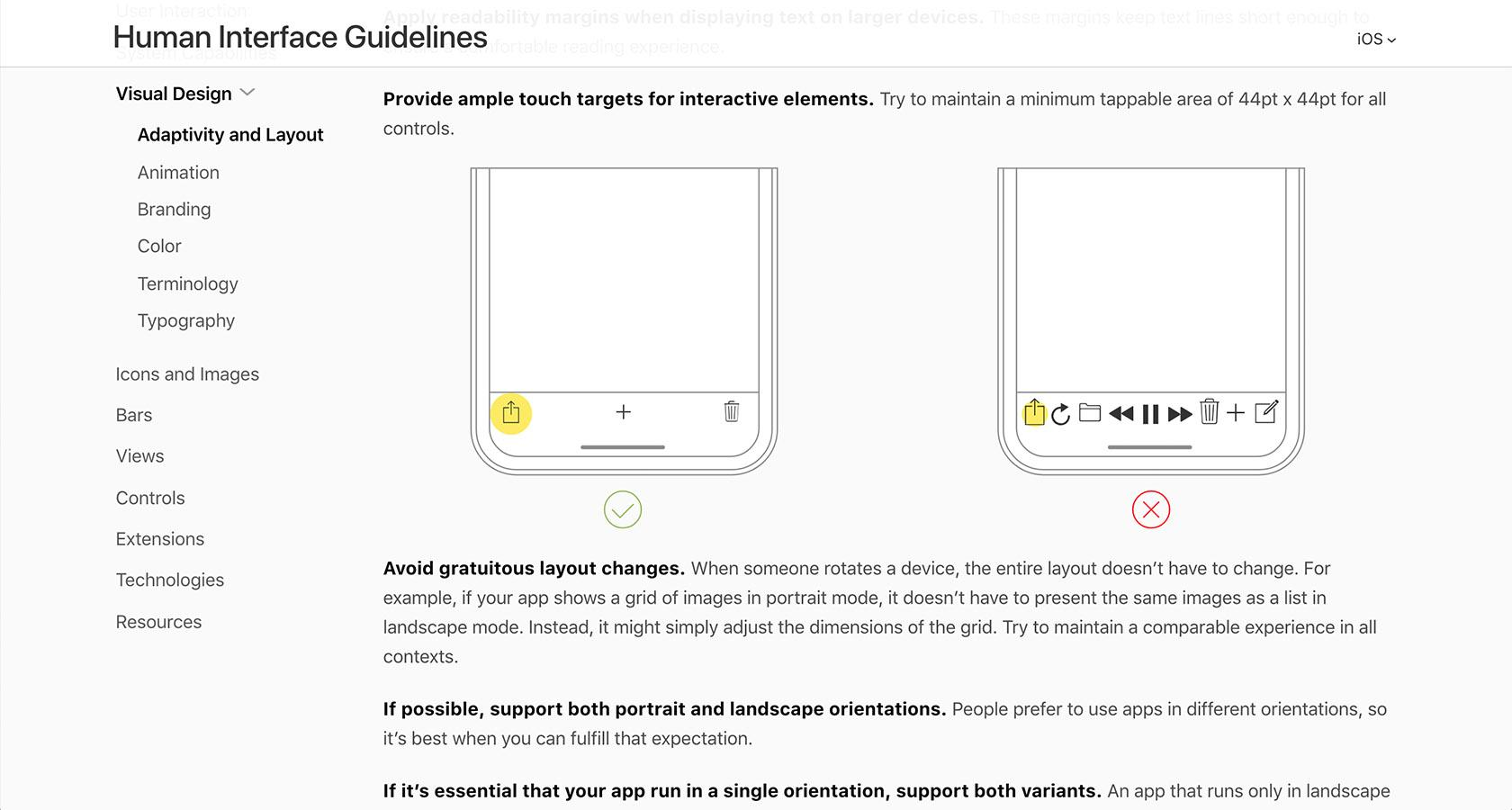 User interface design principles to include when creating a ui style guide