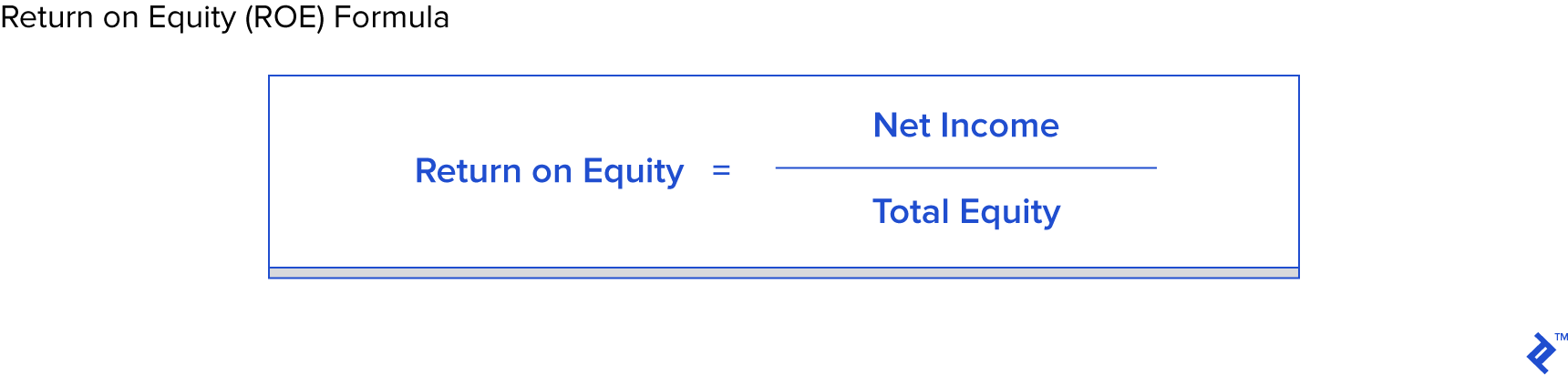 Return on equity ROE formula