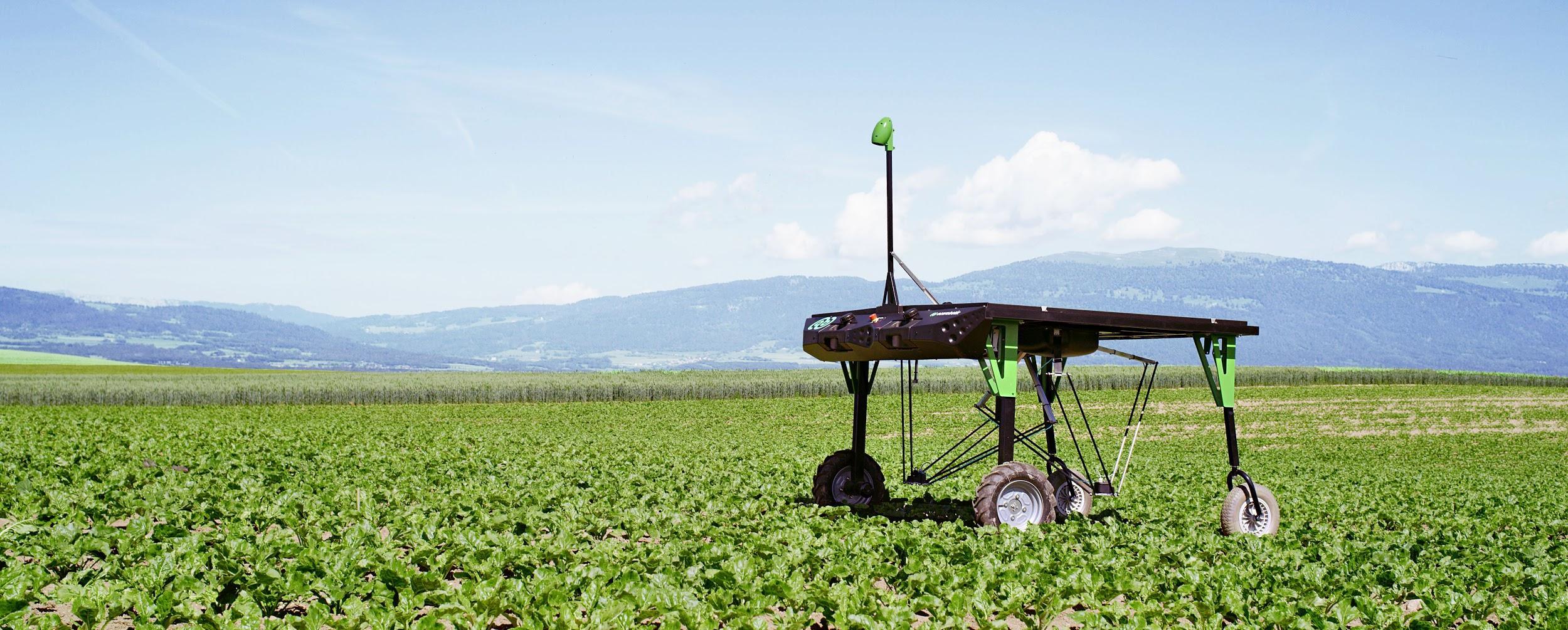 Weed control robot by Ecorobotix