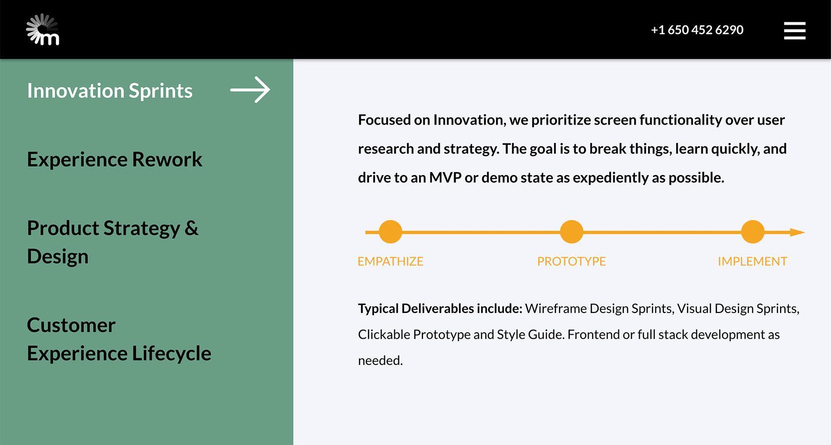 UX design website for an agency