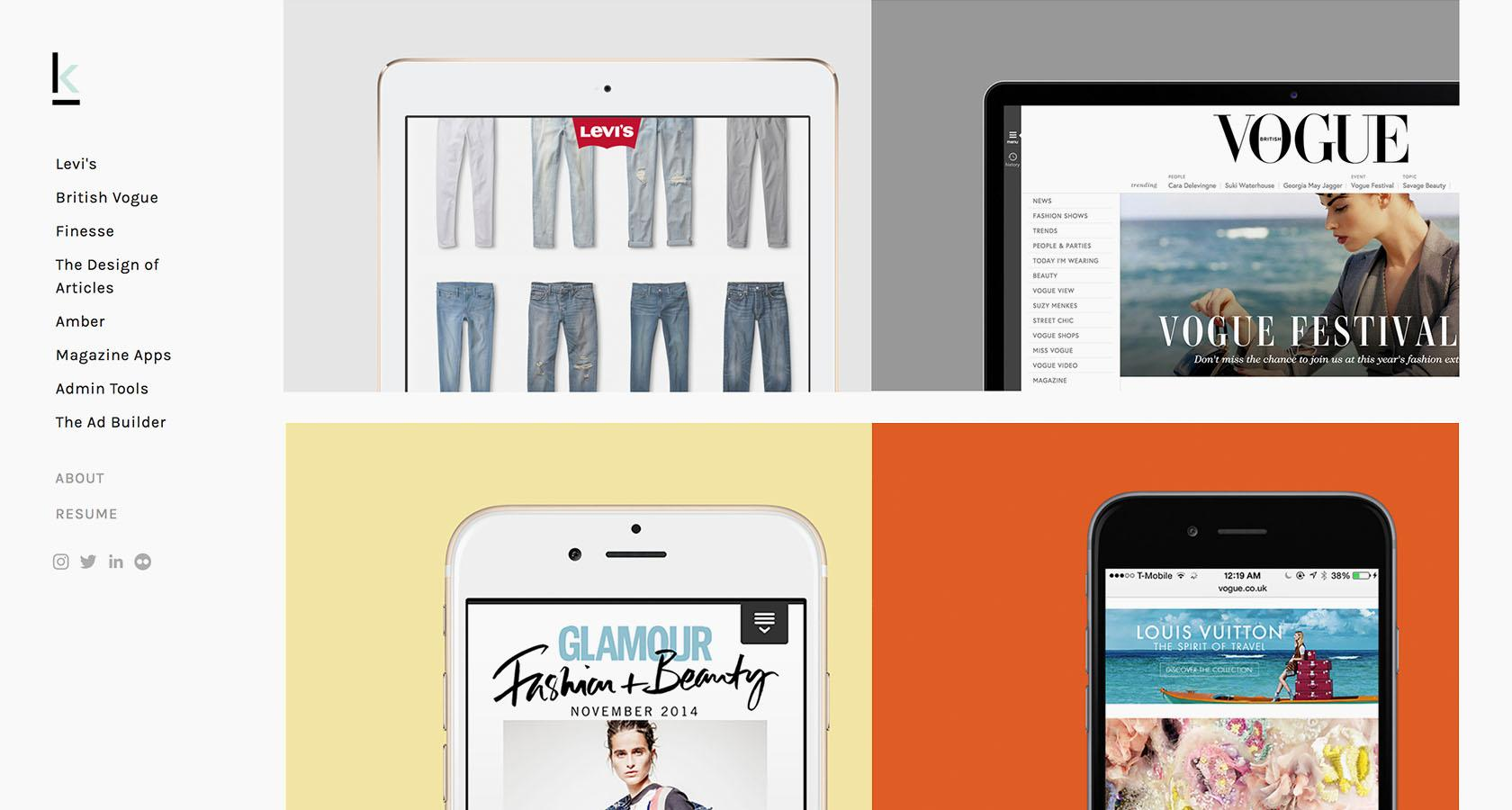 Some of the best UX design portfolios in the fashion industry
