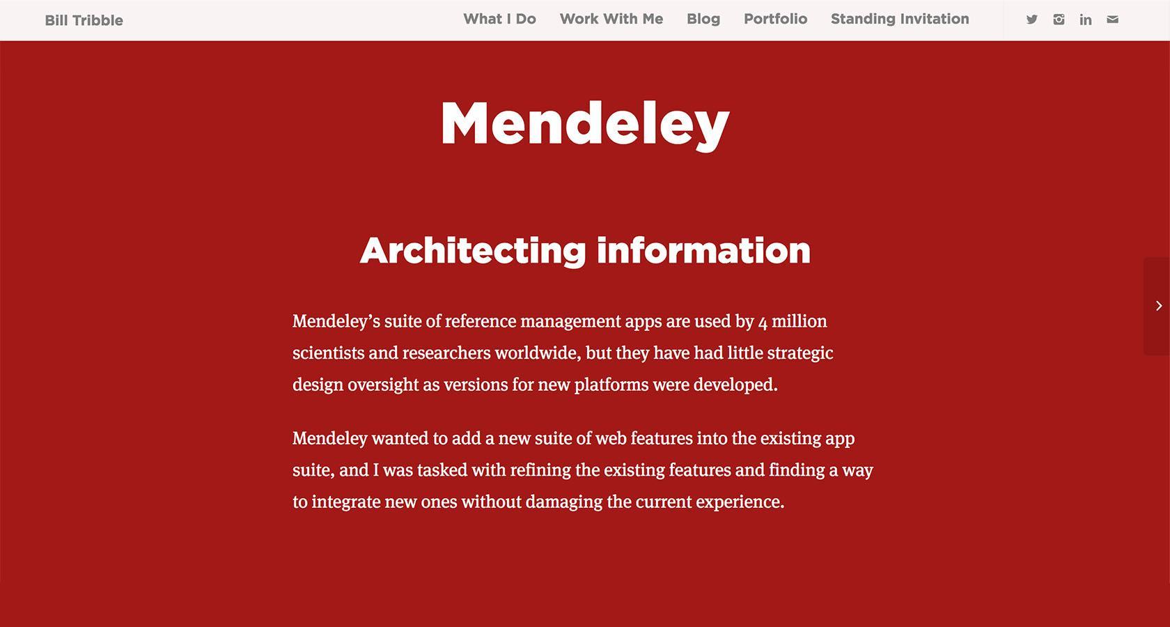 UX design website project summary