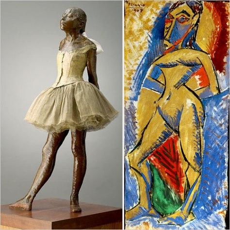 Picasso derived inspiration from Degas's work.
