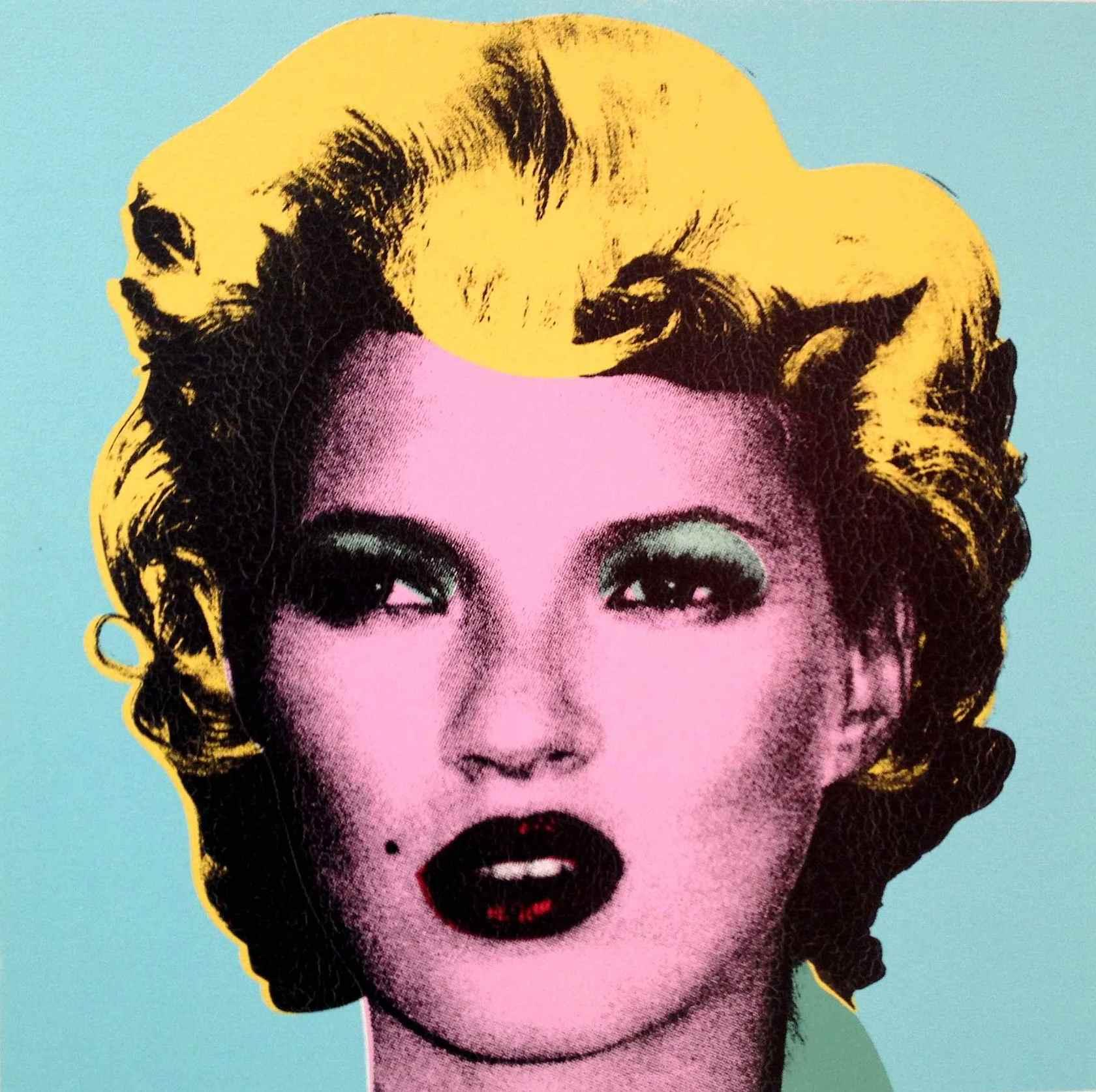 Banksy created his Kate Moss portrait in the style of Andy Warhol.