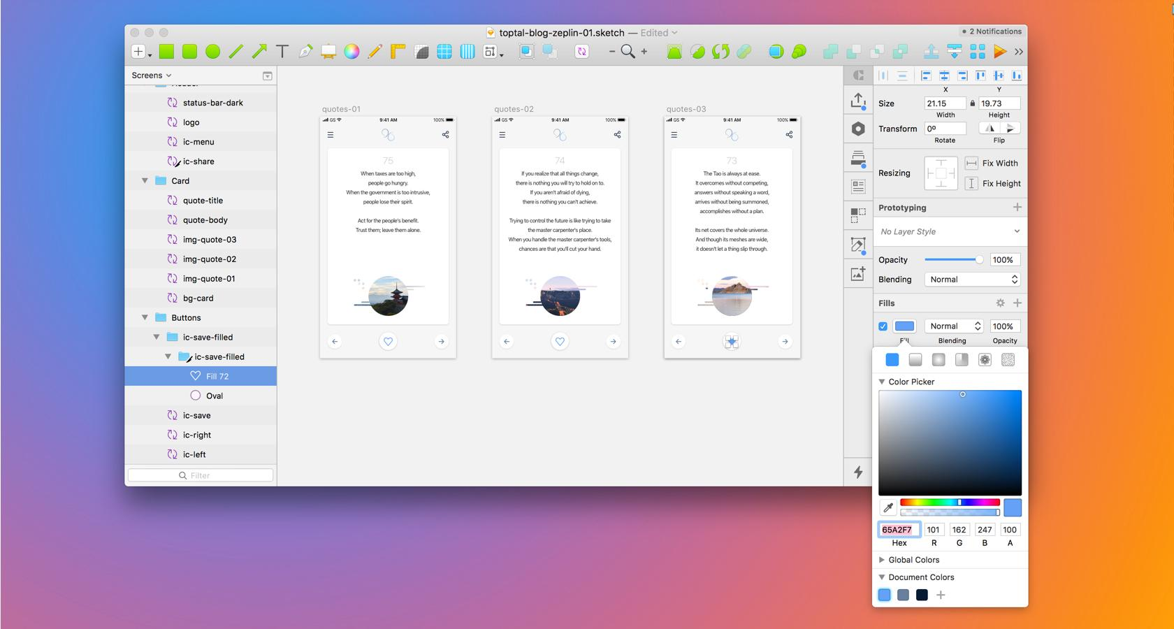 Sketch adds Document Colors to show up in Zeplin's Styleguide