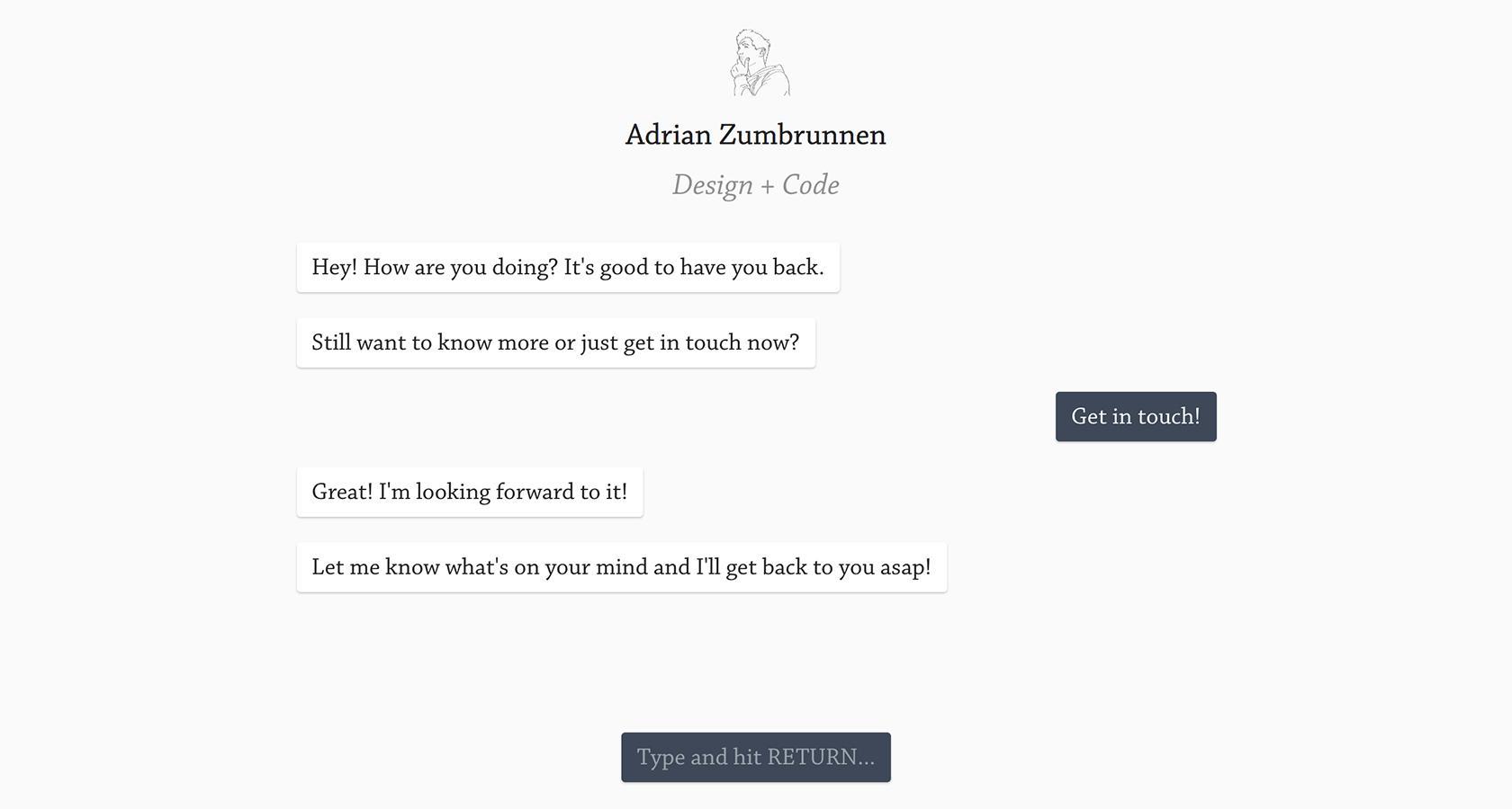 Adrian Zumbrunnen chatbot UX design
