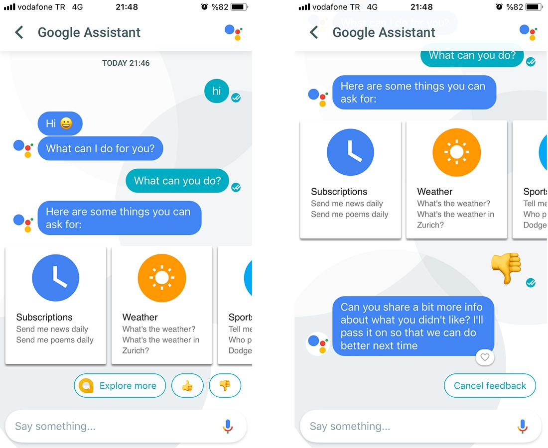 Fynd Messenger chatbot UX design survey emojis