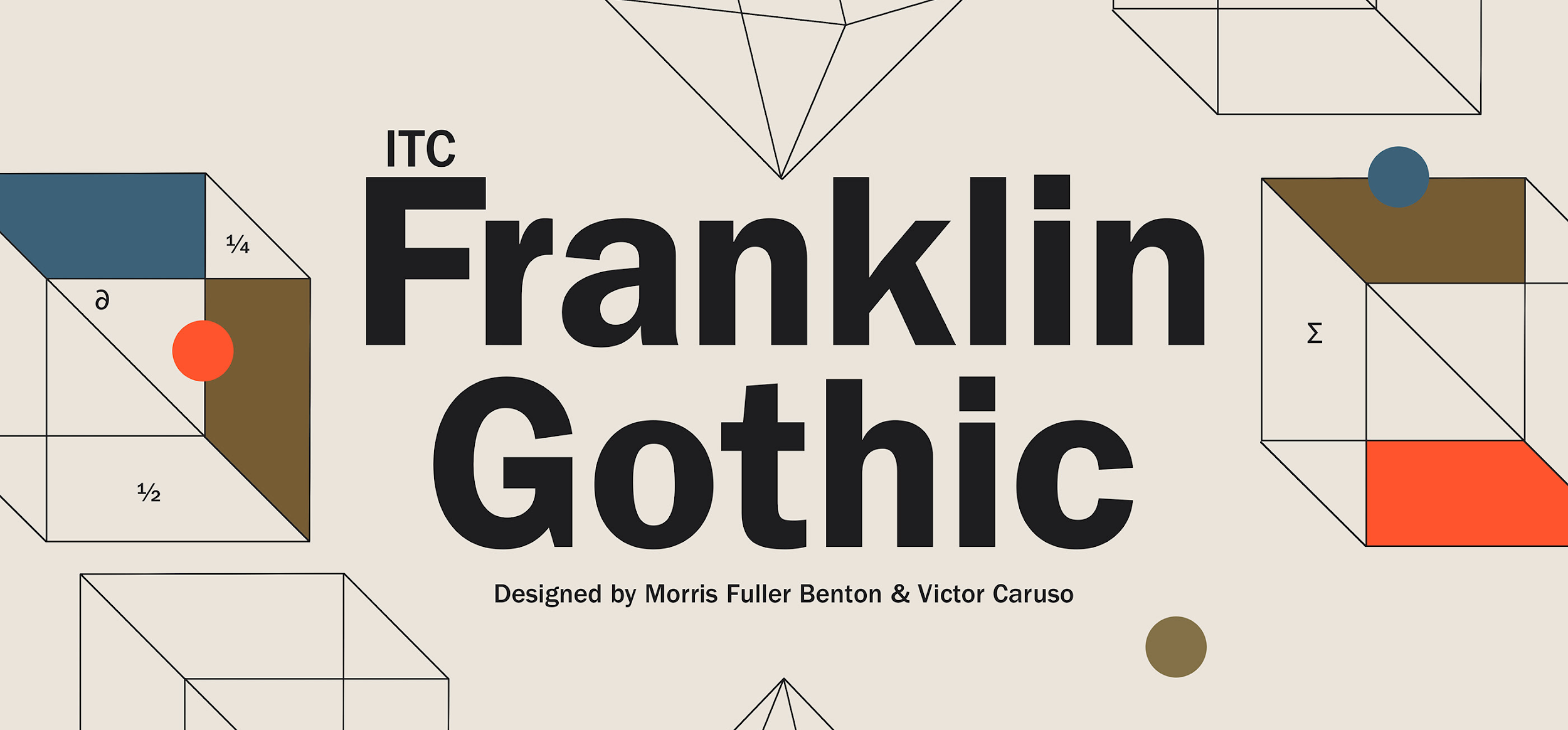 Gothic font typography style, Franklin Gothic
