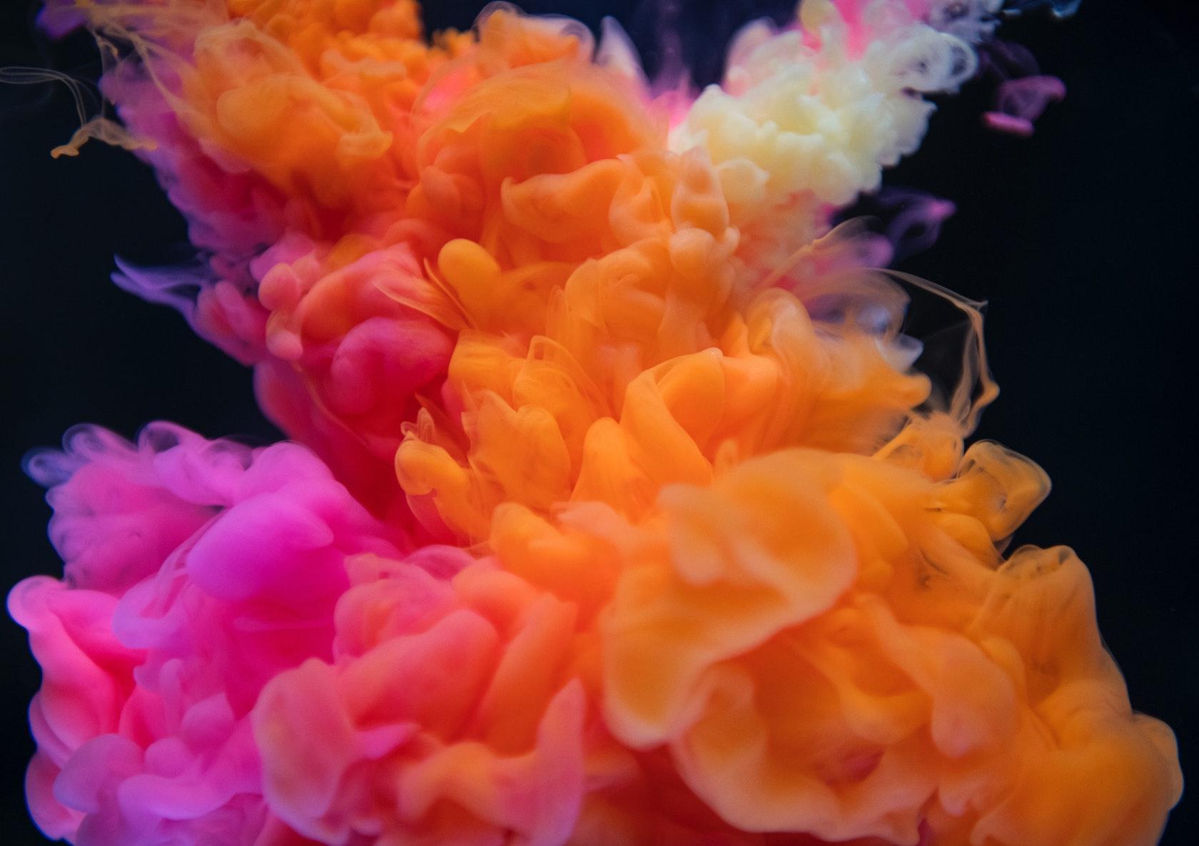 A warm color scheme in color psychology
