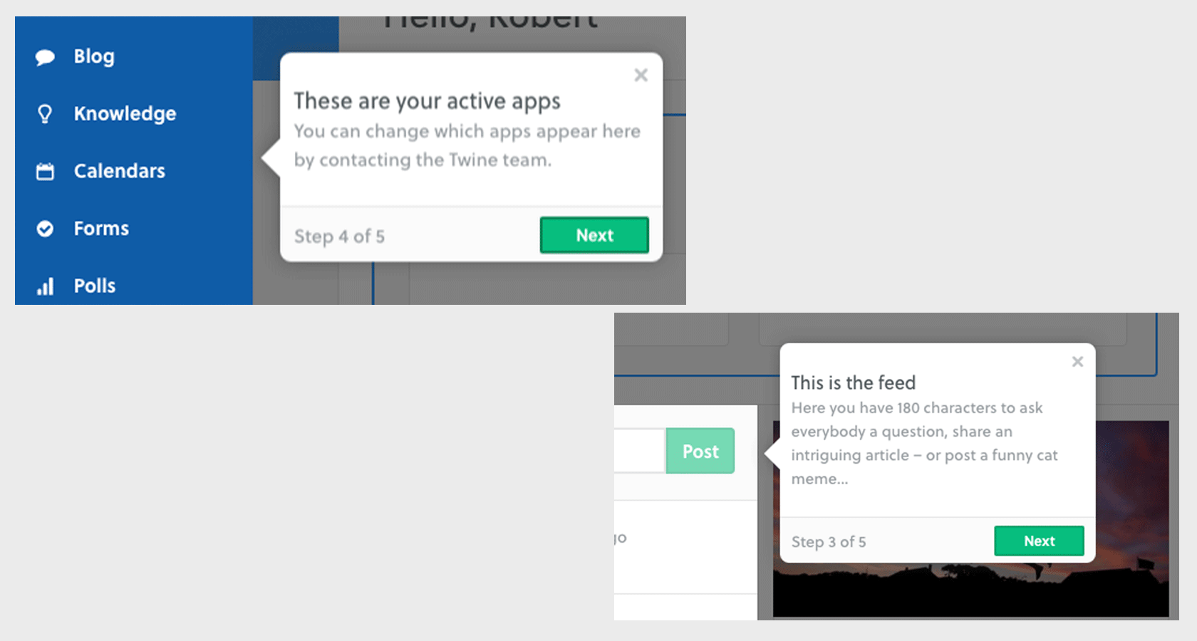 Tooltips are one of the common onboarding UX patterns.