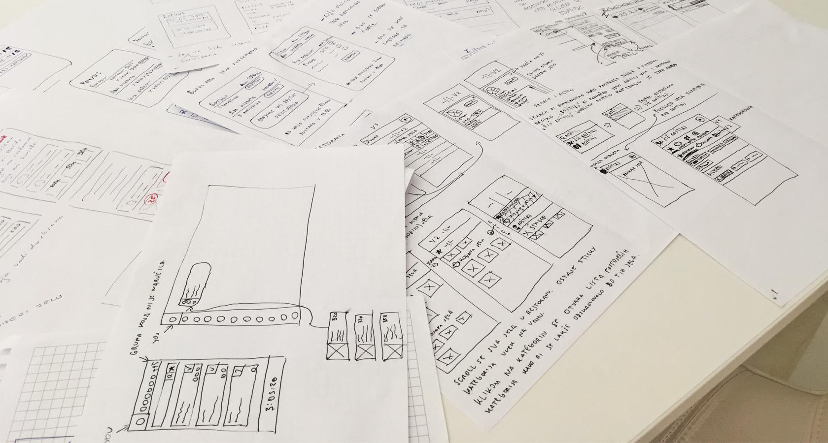 Everyone sketches as part of the Lean UX design process