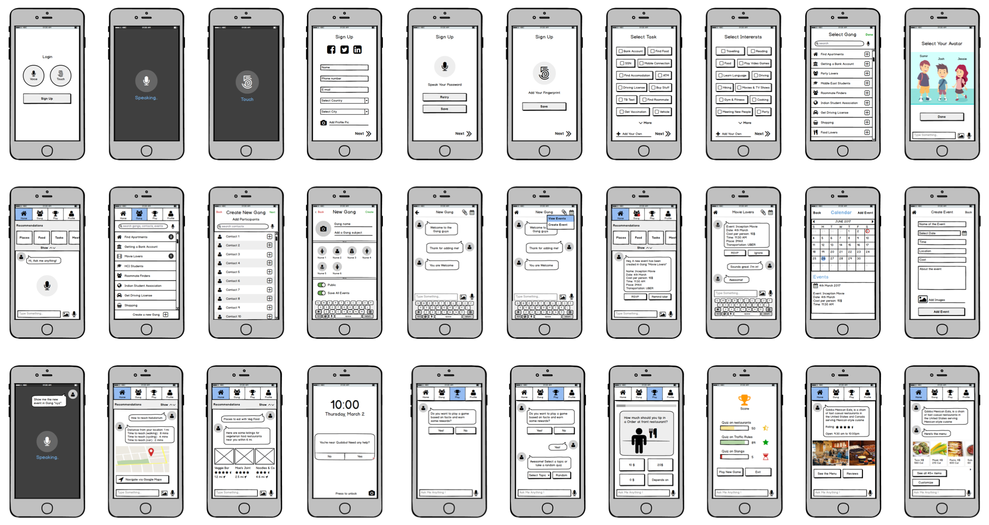 A UX portfolio should show a detailed UX process such as wireframes.