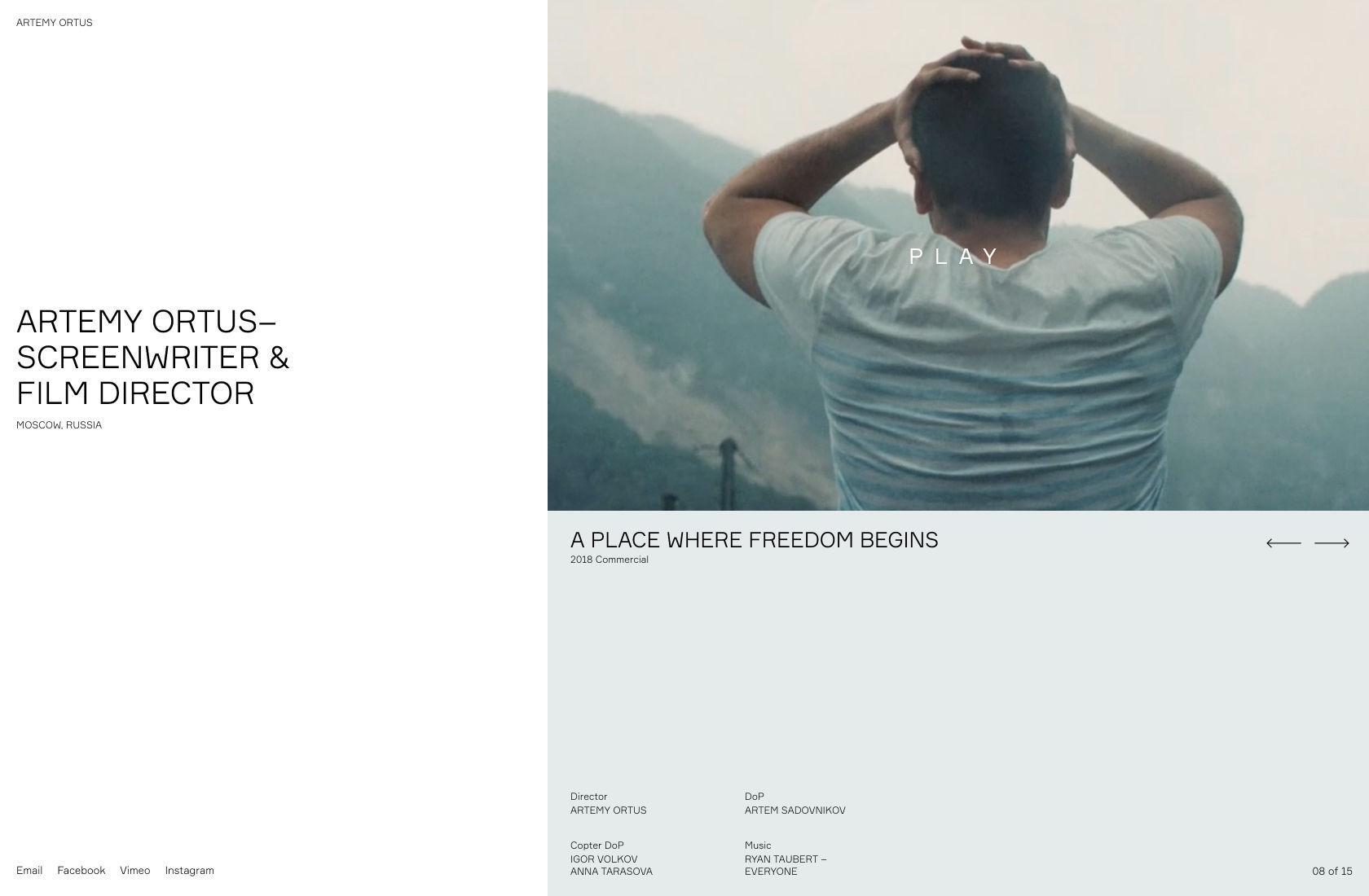 Contoh desain situs web sederhana.