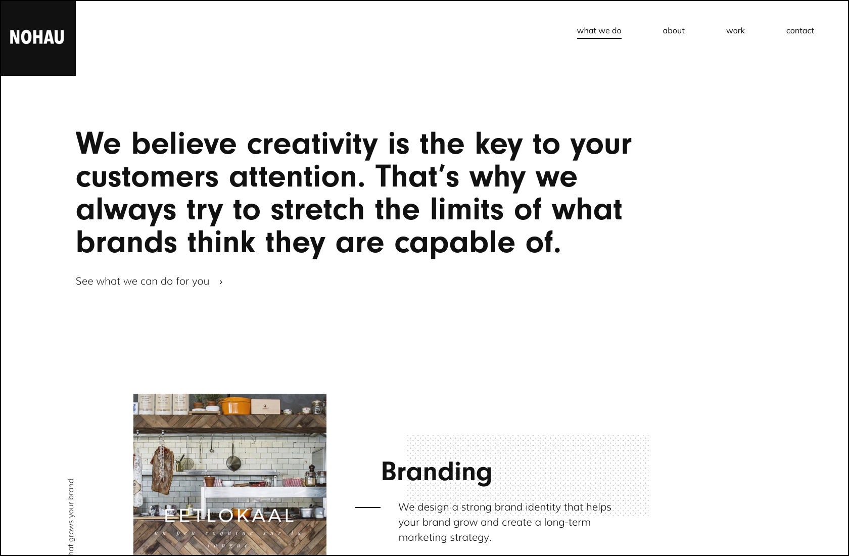 Desain antarmuka situs web minimalis.