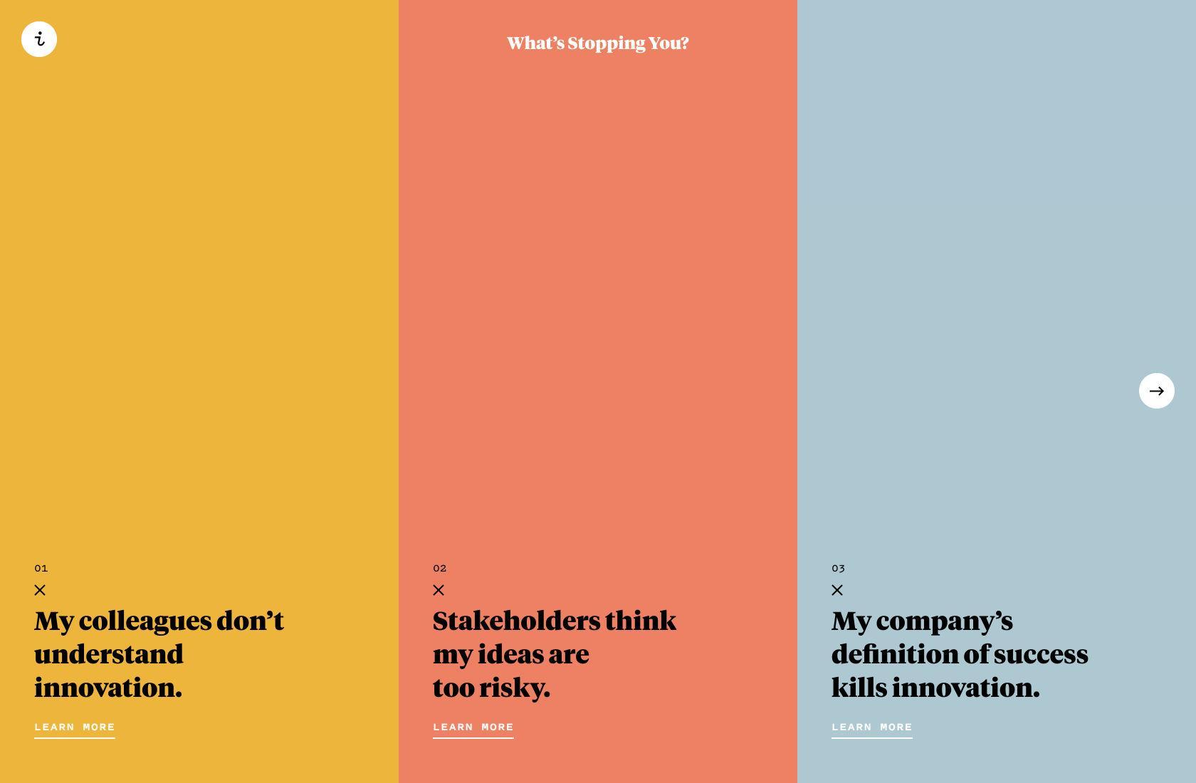 Palet warna desain situs web sederhana.