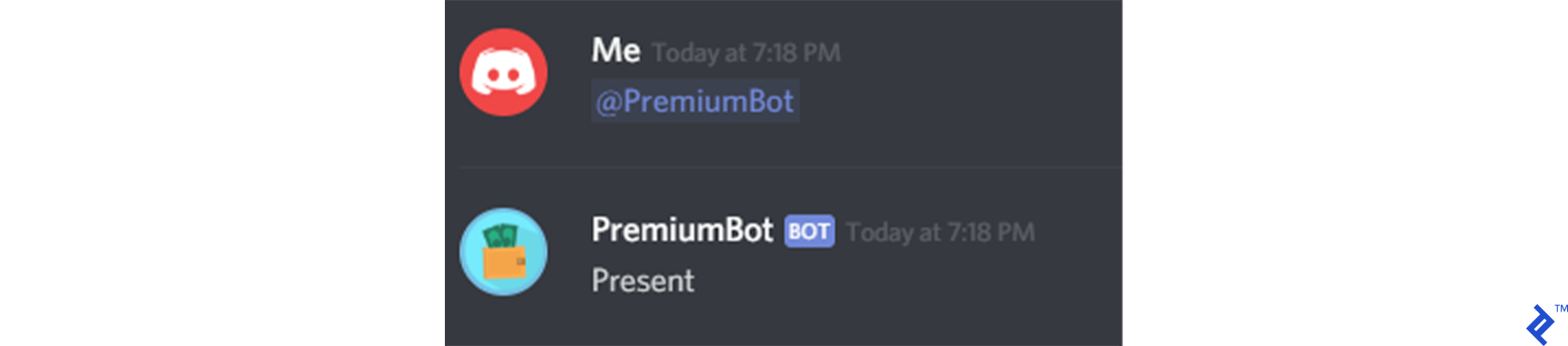 Your bot is present