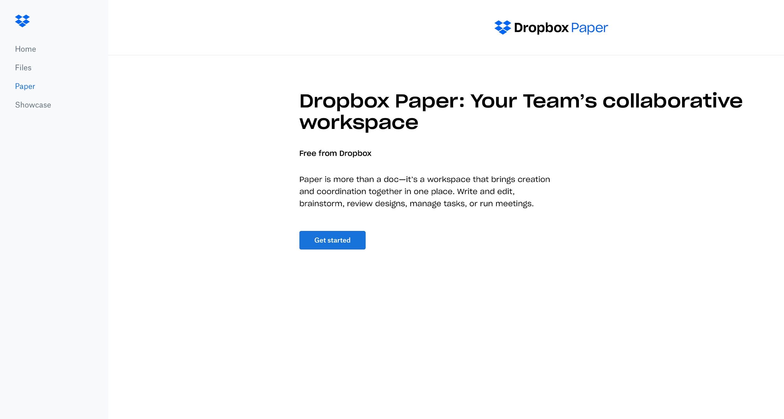 Dropbox user onboarding UX empty state design