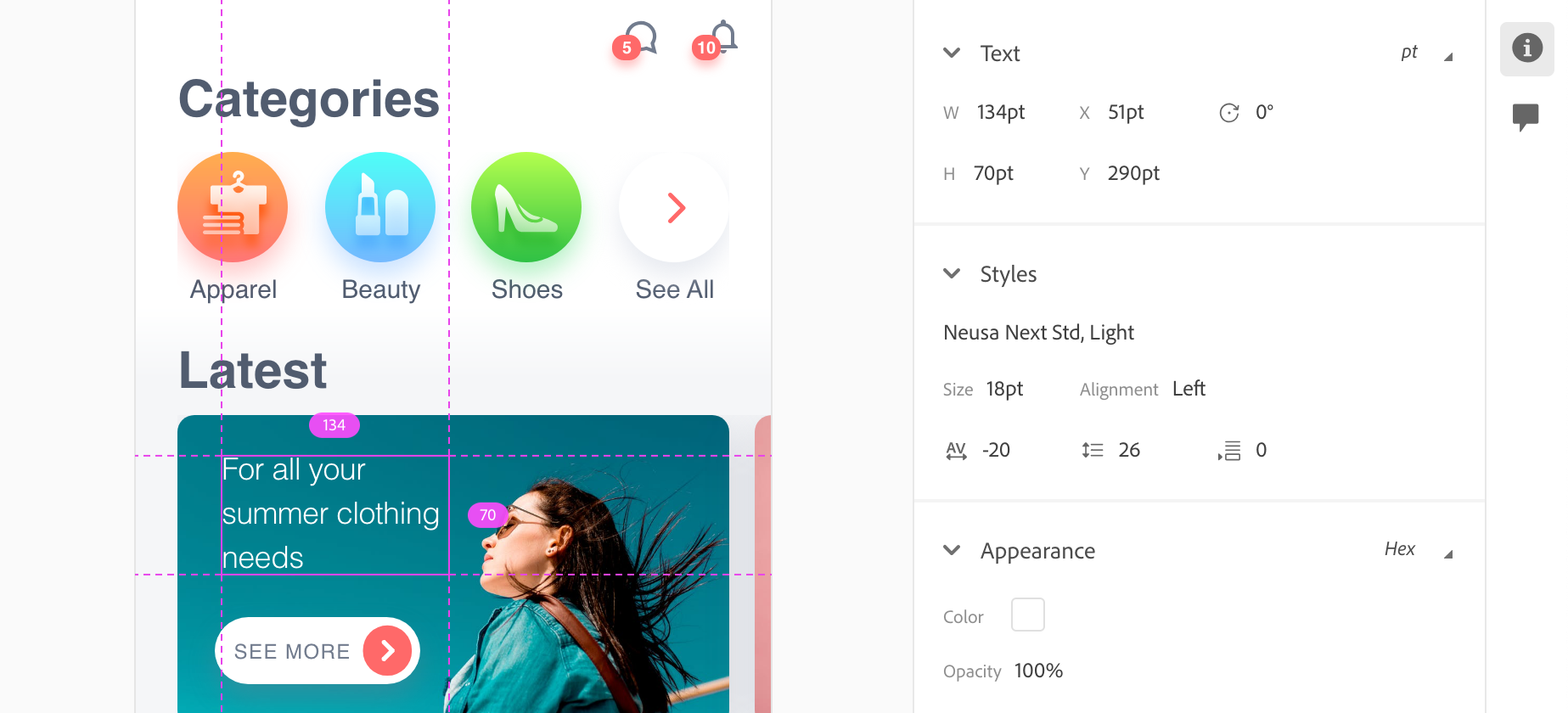Adobe experience design vs Sketch: Adobe XD offers built-in design specs