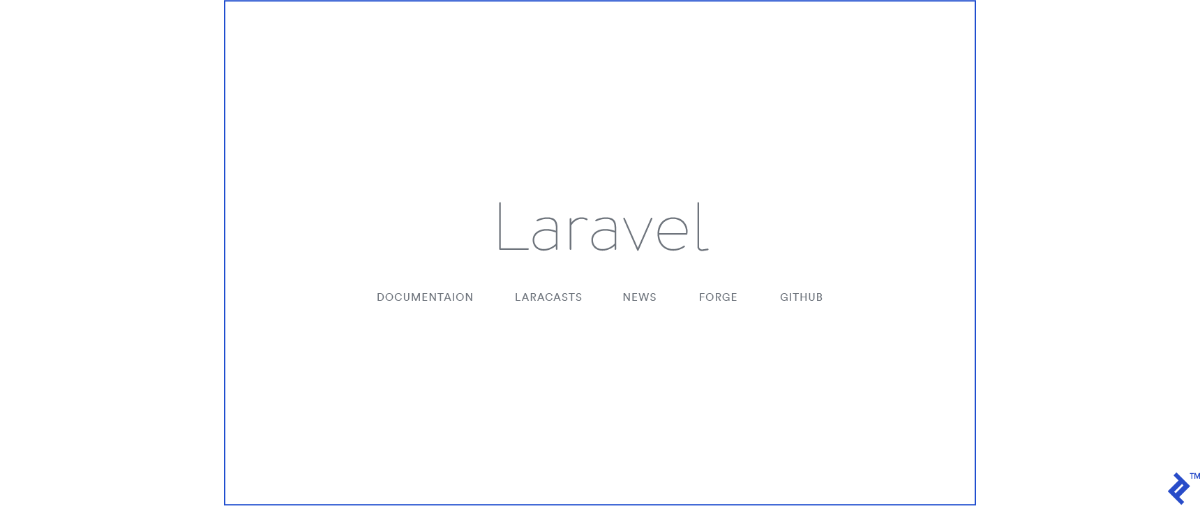 When you open localhost:8000 on your browser, you should see the Laravel sample page