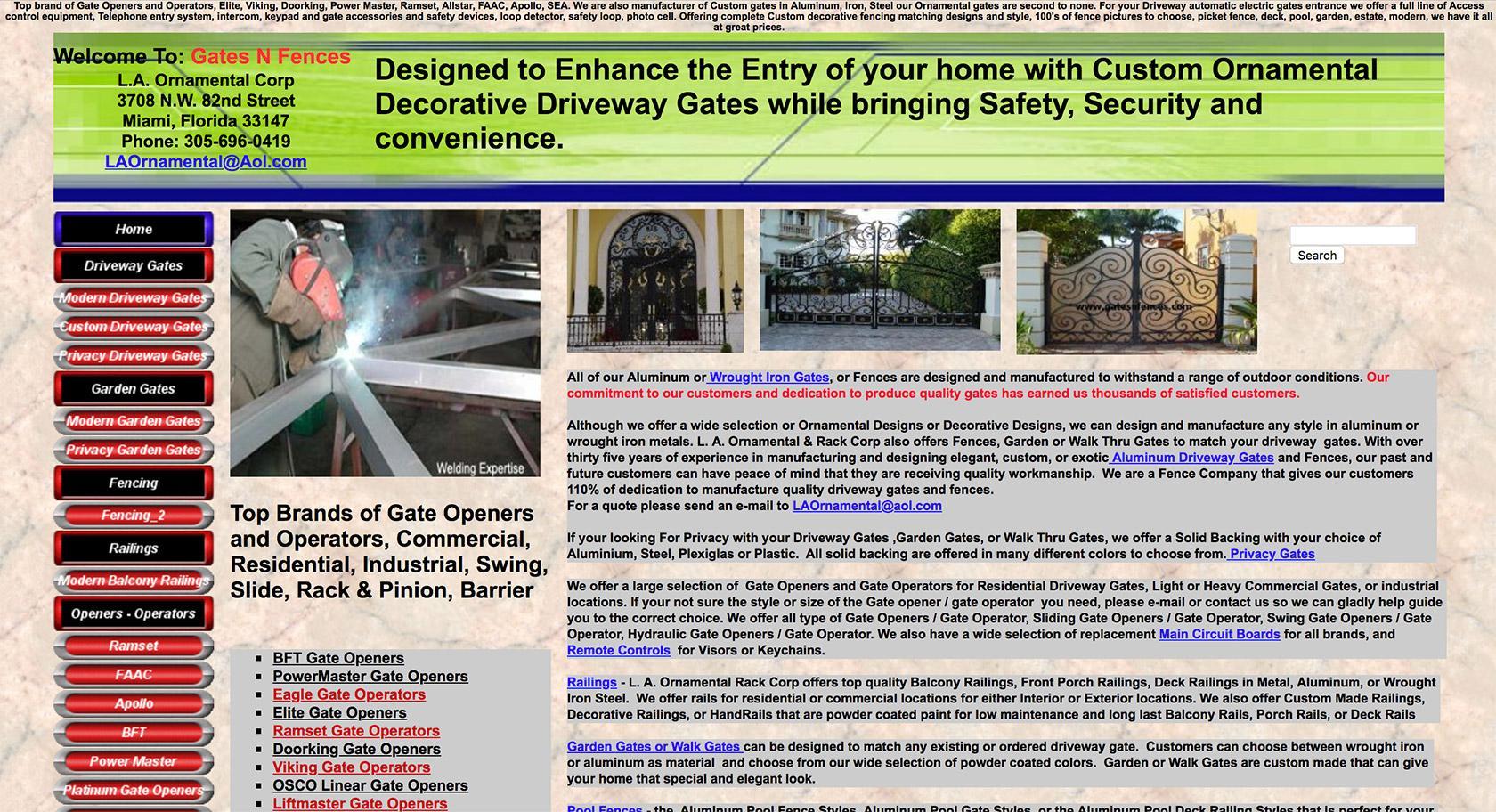 Example of no visual hierarchy to website design.