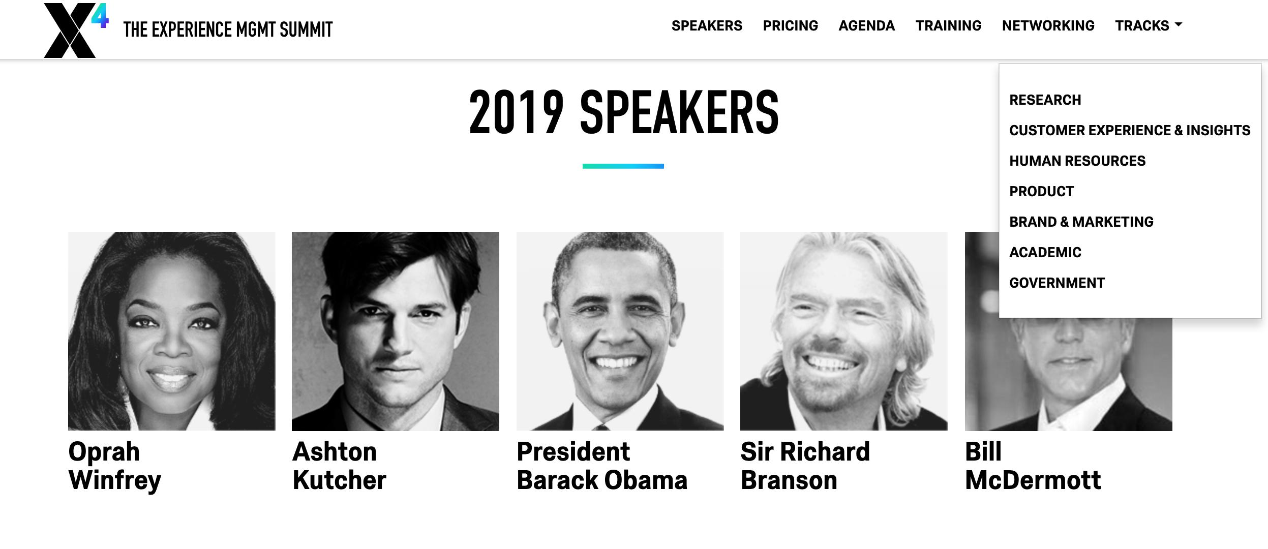 X4 Summit keynote speakers