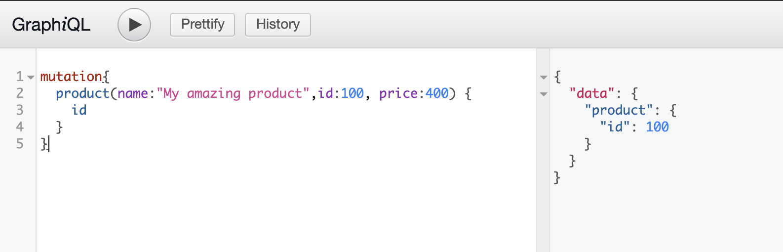 Node.js GraphQL mutation demostration