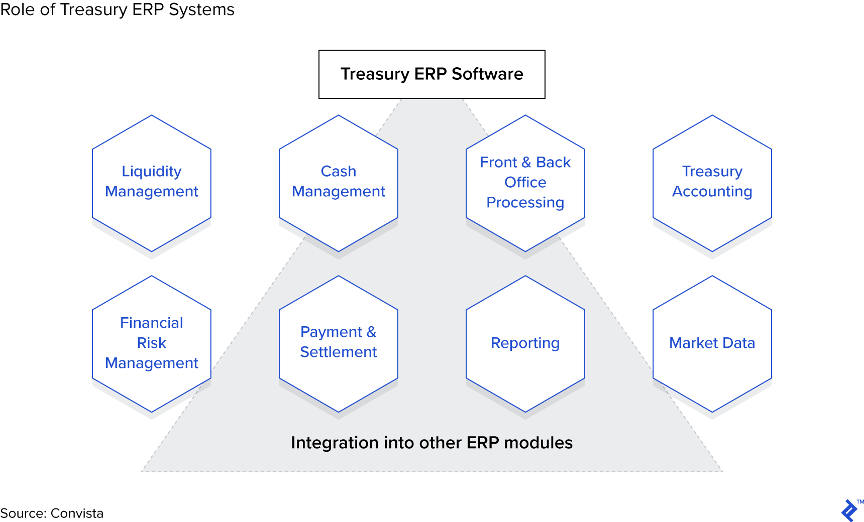 Treasury ERP system functionality requirements