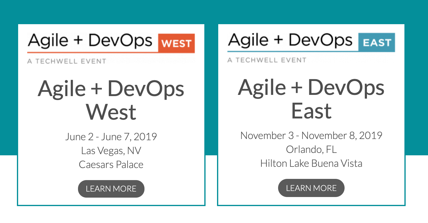 Agile plus DevOps East and West