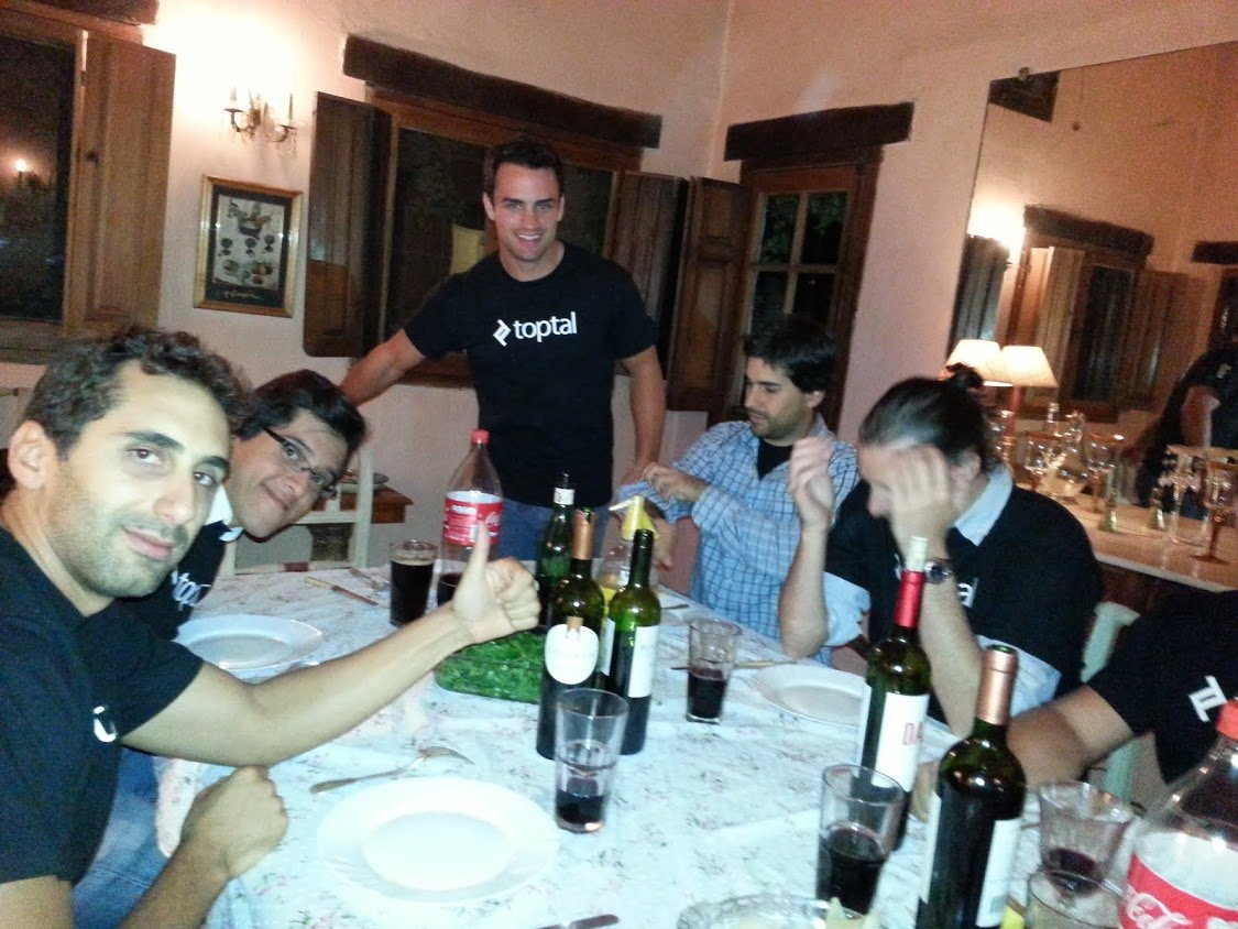 The Cordoba software engineering network enjoying drinks and a meal.