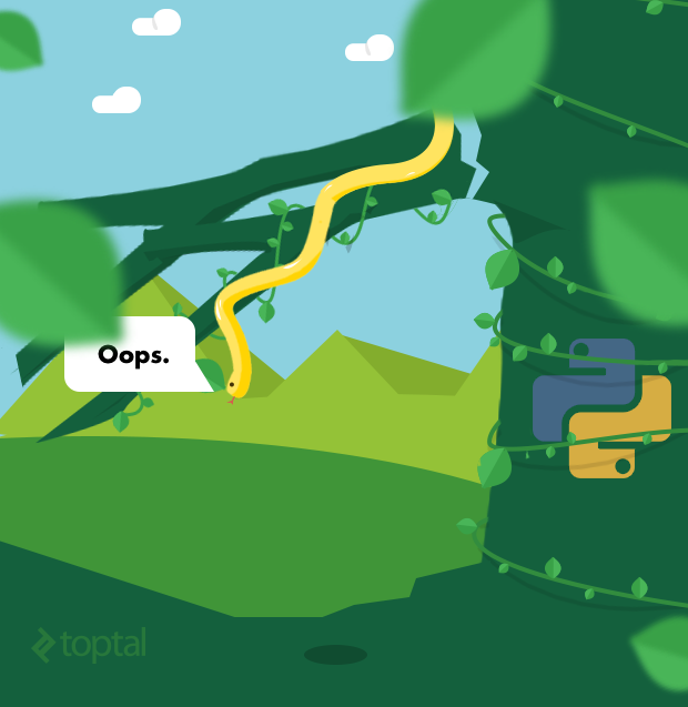 This Python found himself caught in an advanced Python programming mistakes.