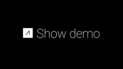 """This is an example of Glass's """"Show demo"""" menu item."""