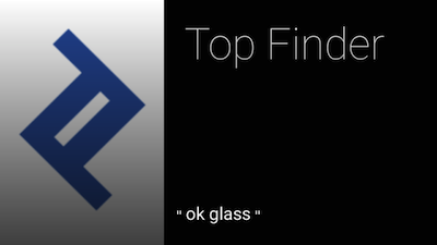 This is the design we chose for our example Glass app home screen.