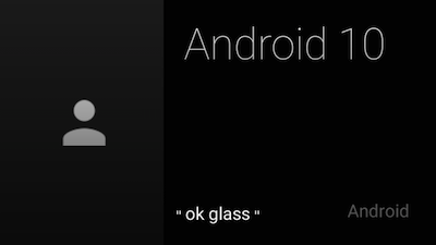 In our example Glass application the 10th Android Developer screen looks like this.