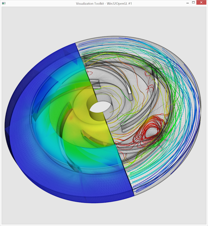 This is the resulting 3D data visualization from our example VTK tutorial.