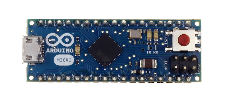 The Arduino Micro board was the basis for building my keyboard for developers.