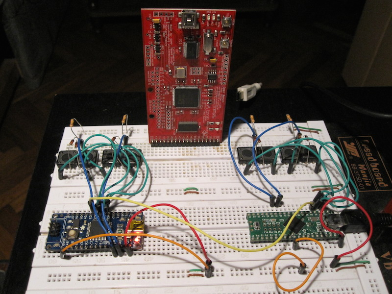 The breadboard prototype is beginning to take the shape of a customized keyboard for developers.