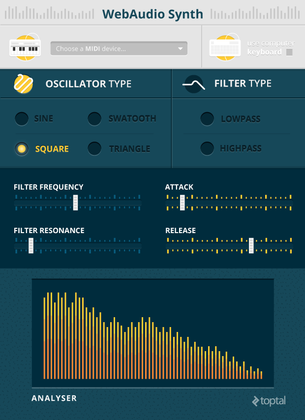 polished midi user interface