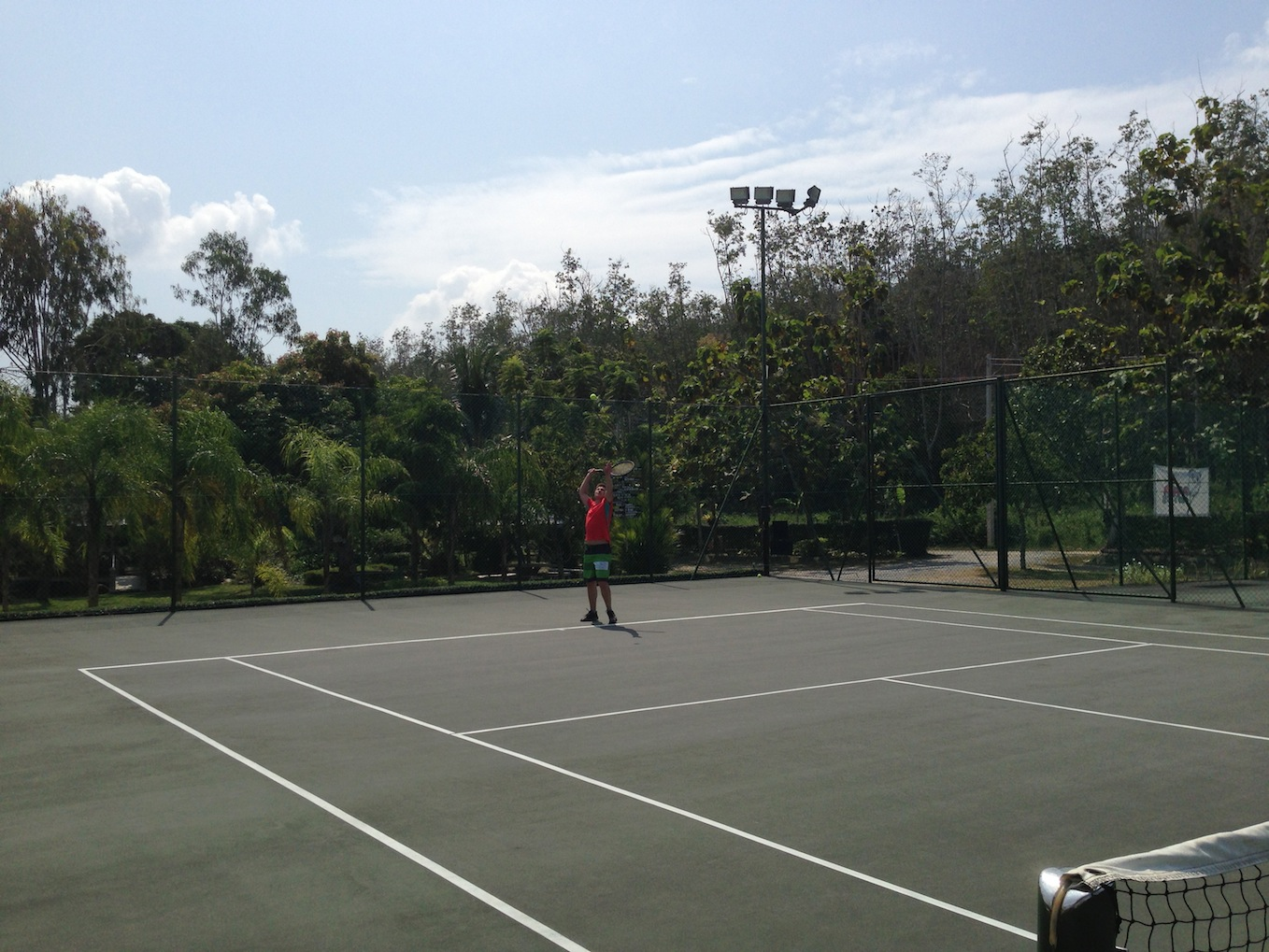 How many remote companies can boast group tennis matches in Thailand?
