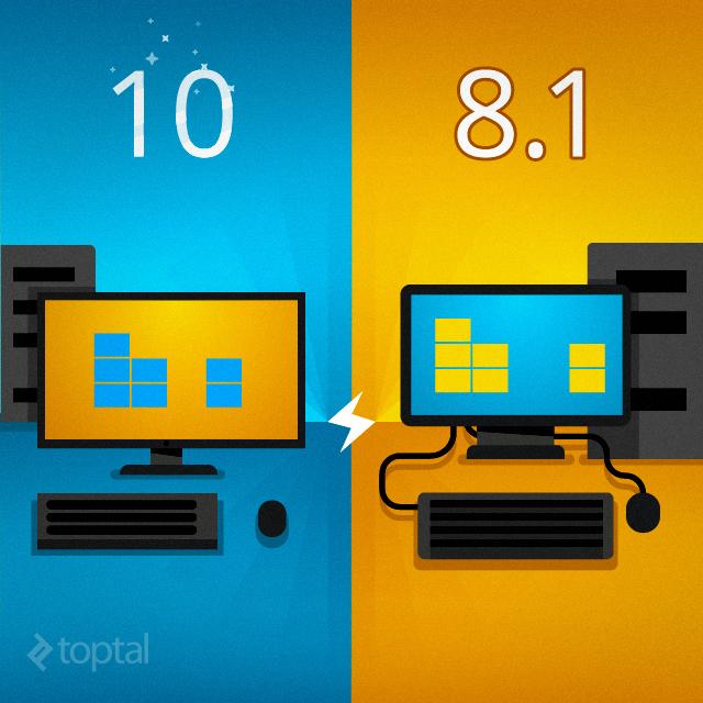Windows 10 vs. Windows 8