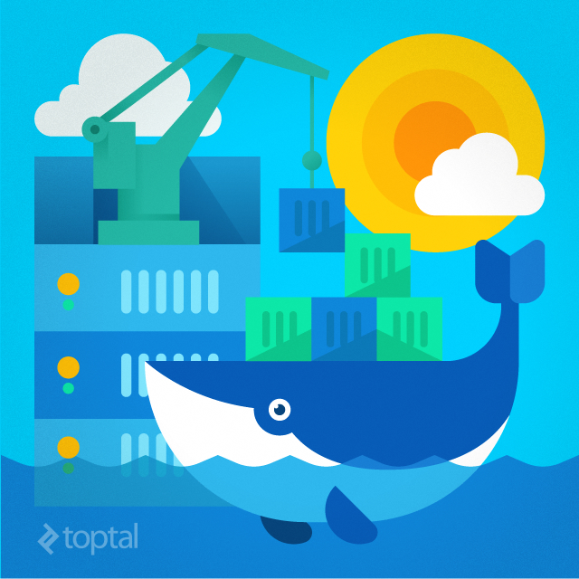 Docker, represented by a logo with a friendly looking whale