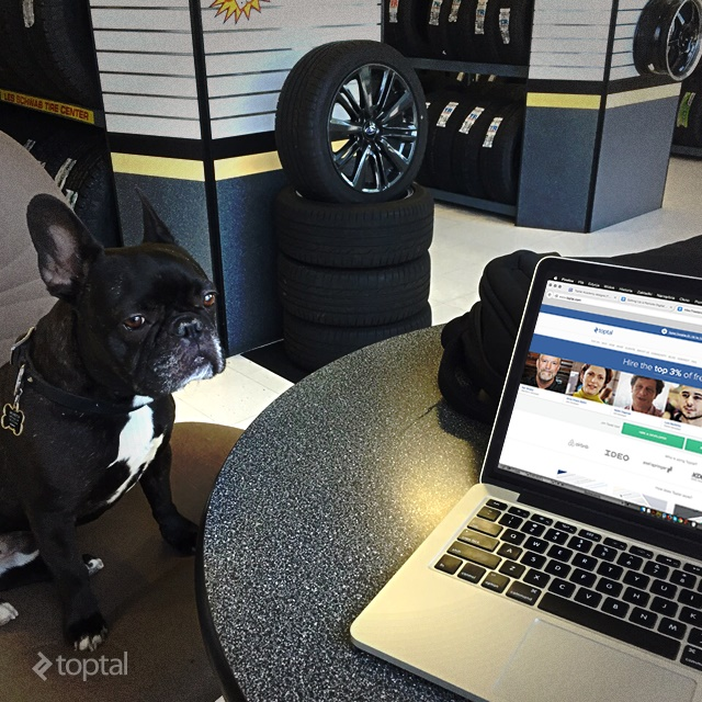 You can continue to work even while you wait for your car at the mechanic.